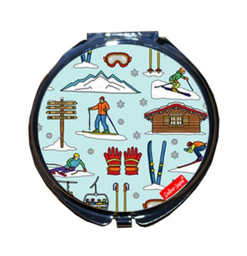 Selina-Jayne Skiing Limited Edition Designer Compact Mirror